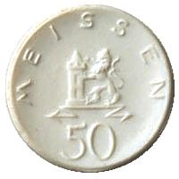 10 Mark  1922 Gaildorf  Porcelana Meissen50